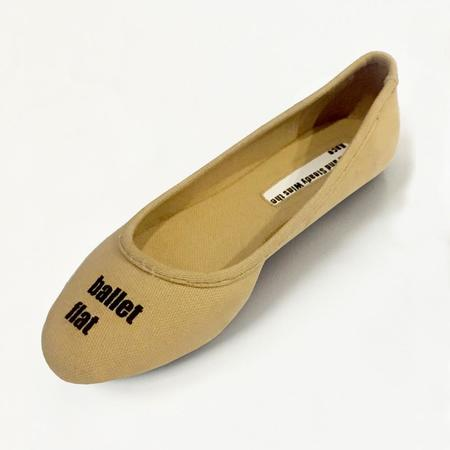 Slow and Steady Wins the Race Ballet Flat - Khaki
