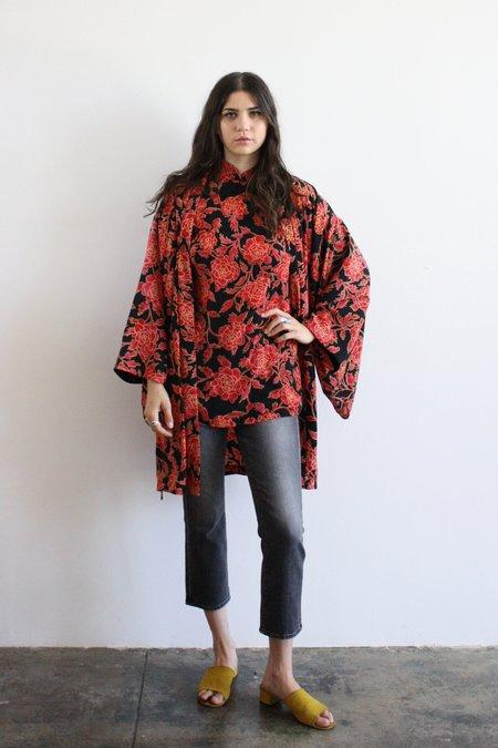 Vintage & Pre-loved Red Floral Nightie & Kimono
