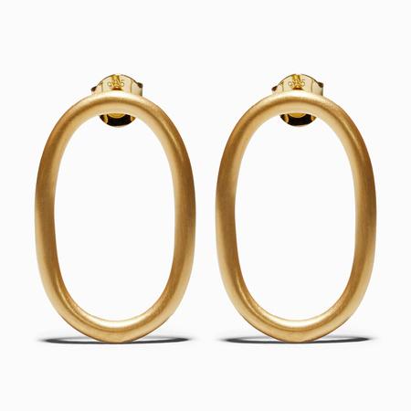 Ming Yu Wang Sub Earrings - Brass