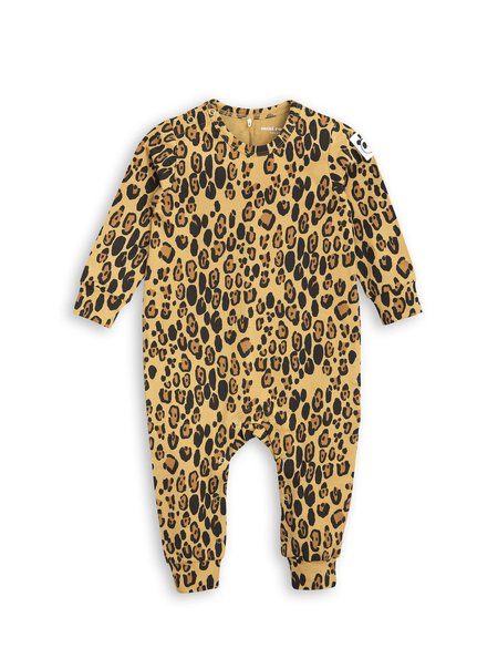 Kid's Mini Rodini LEOPARD PRINT JUMPSUIT
