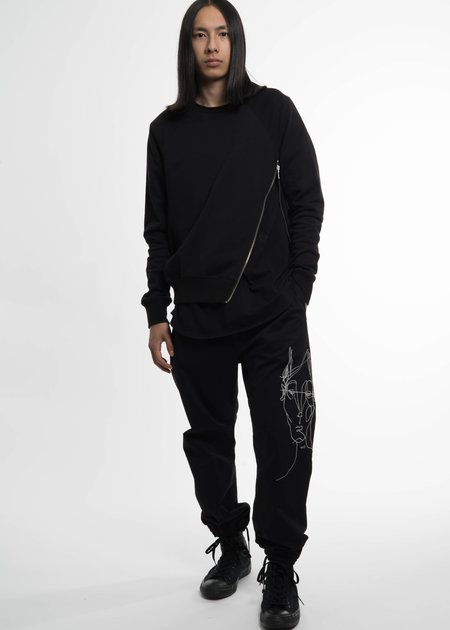 Siki Im Black Side Zip Crew Sweatshirt