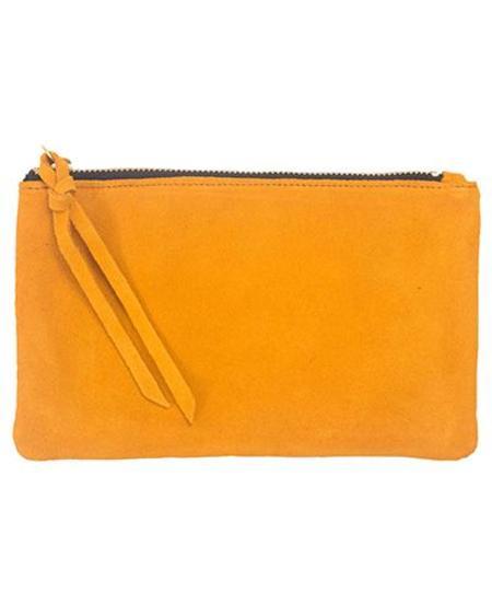 Oliveve Eden Wallet in Marigold Suede