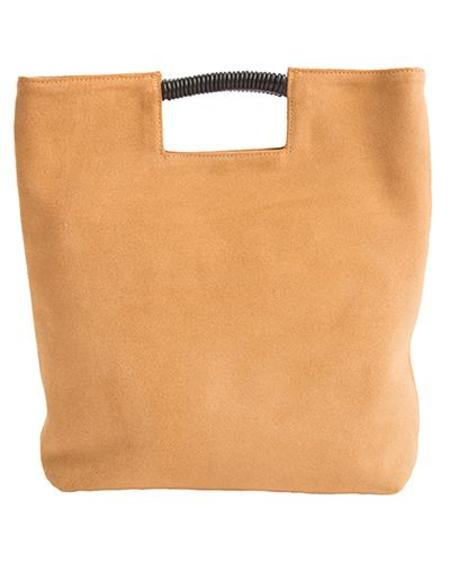 Oliveve Reid Wrap Handle Tote in Tobacco Suede