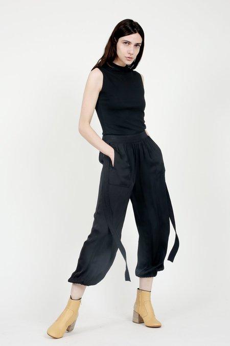 Raquel Allegra Black Deconstructed Tuxedo Pant