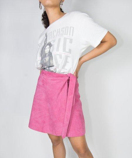 Just Female Coach Bubblegum Suede Skirt