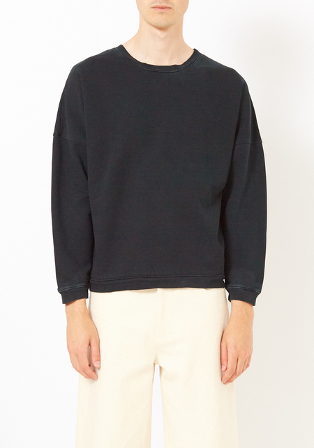Olderbrother Black Indigo Anti Fit Crew Neck Sweatshirt