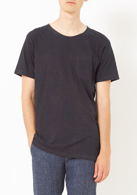 Unisex Olderbrother Black Indigo Cleaner Cotton Crew