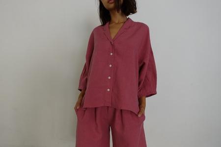Ilana Kohn Steven Shirt in Rose Linen