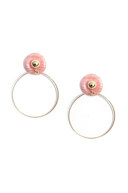 Mau Rhodochrosite Cosme Earrings