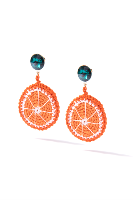Venessa Arizaga Orange Slice Earrings