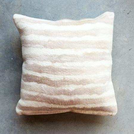 Minna Felted Pillow in Peach