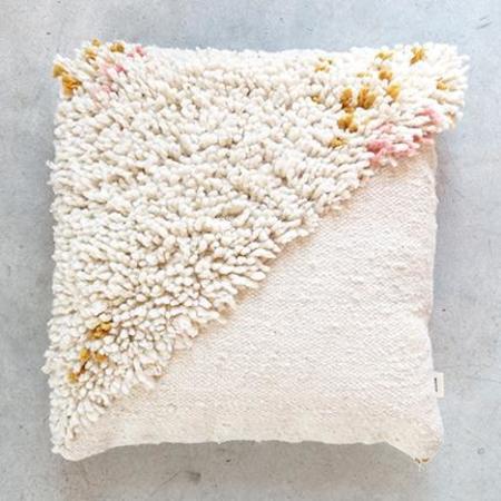 Minna Split Shag Wool Pillow