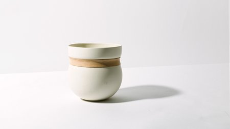 Kati Von Lehman Porcelain & Leather Vase