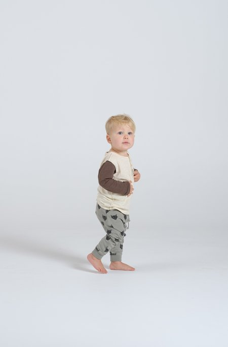 Kid's Rylee & Cru FOX PRINT SWEATPANTS - SAGE