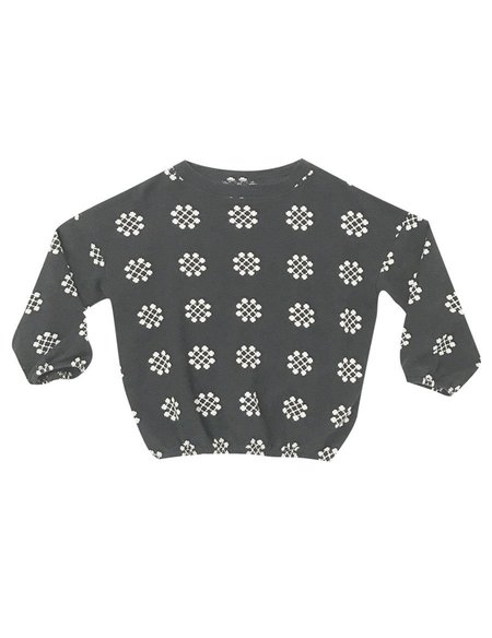 Kid's Rylee & Cru MEDALLION KNIT JUMPER - CHARCOAL