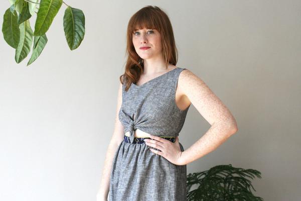 Eve Gravel Lemonade Dress