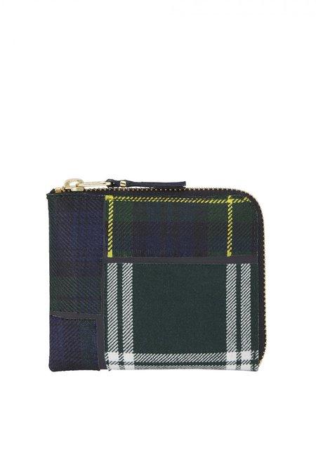 Comme des Garçons Leather SA-3100TP Half Zip Wallet - Tartan Patchwork
