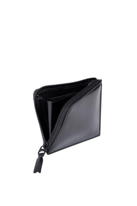 Comme des Garçons Leather Half Zip Wallet - Very Black