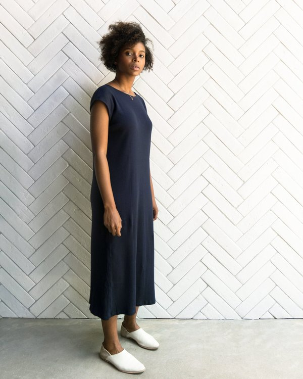 Esby Natalie Rib Dress - Navy