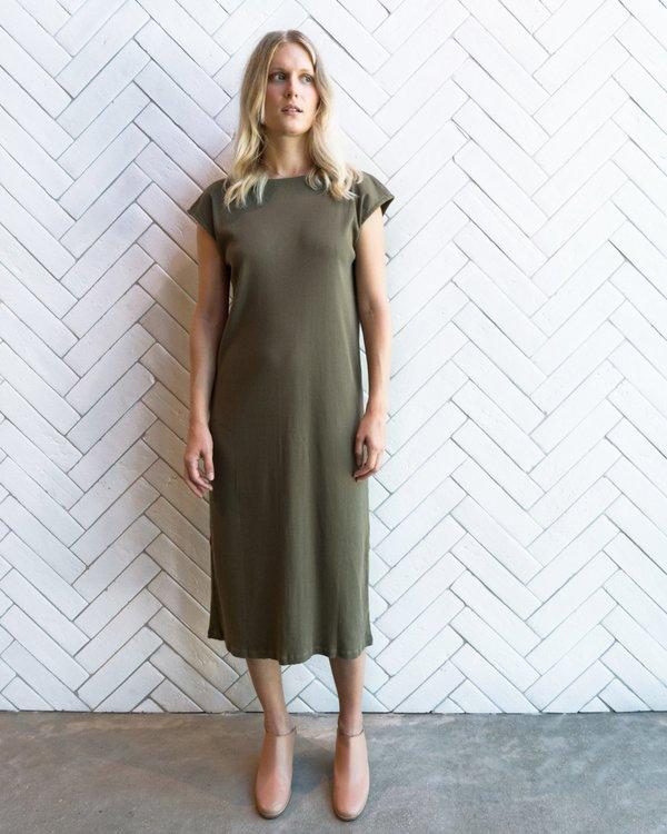 Esby Natalie Rib Dress - Olive