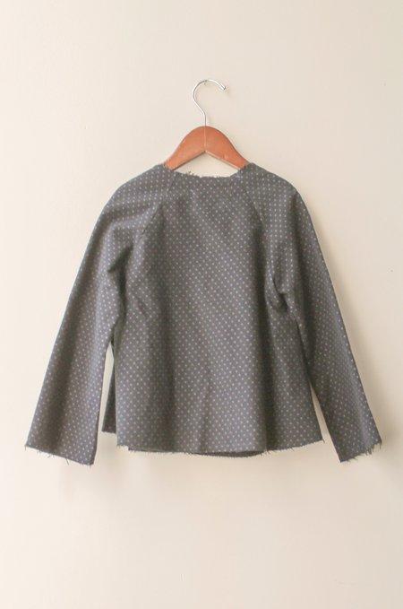 Kids Boy+Girl Kimono Jacket - Black Polka Dot