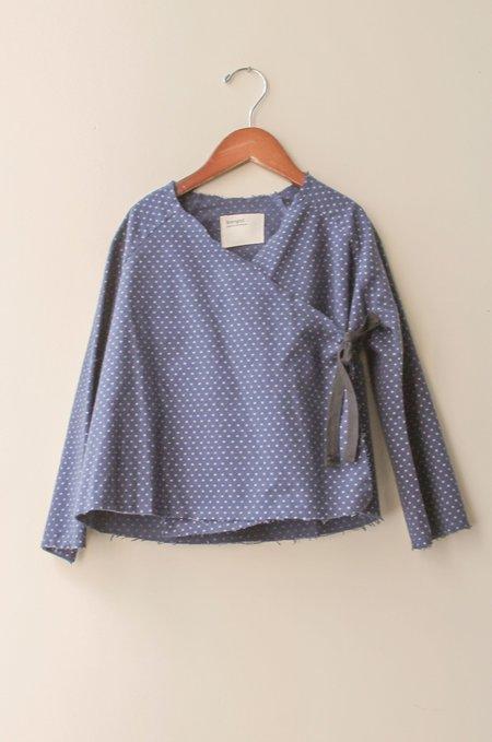 Kid's Boy+Girl Kimono Jacket in Navy Polka Dot