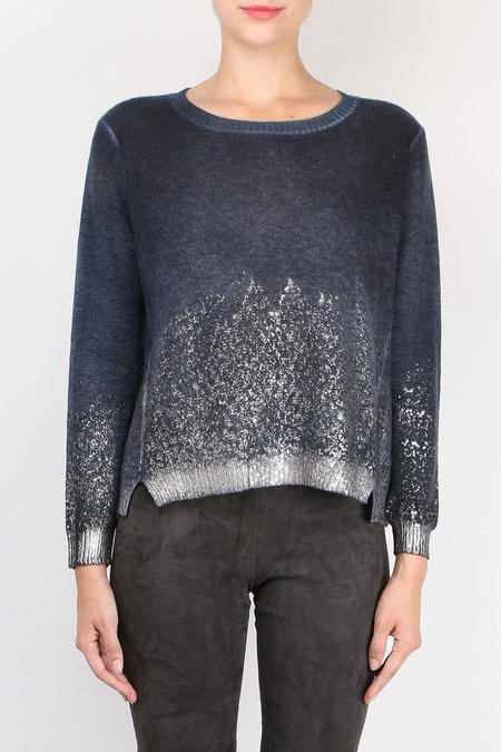 Avant Toi Metallic Boatneck Knit