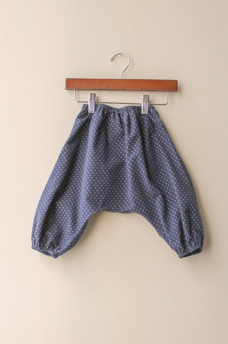 Boy+Girl Nico Harem in Navy Polka Dot