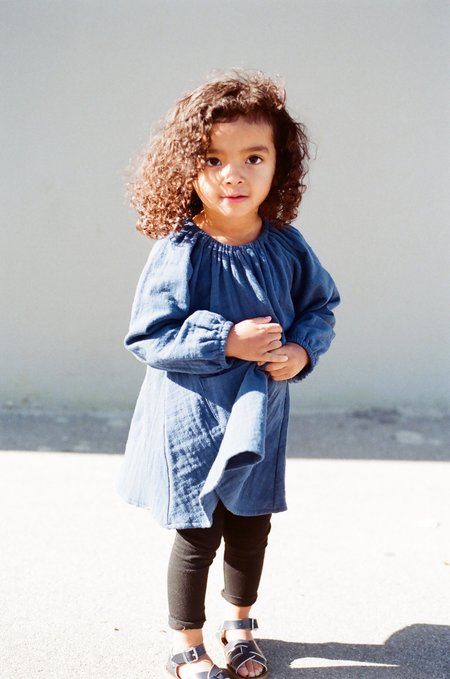 Boy+Girl Peasant Dress w/ Bloomer in Navy
