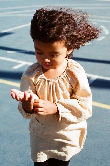Boy+Girl Peasant Dress w/ Bloomer in Caramel