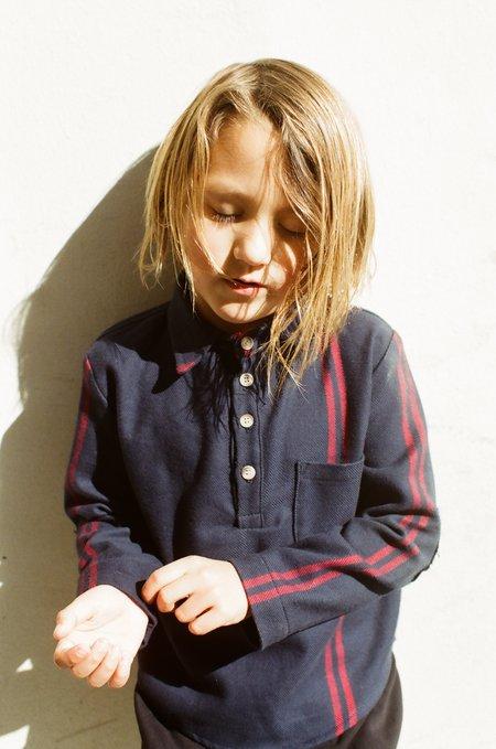 Kid's Shopboyandgirl Popover in Red Stripe