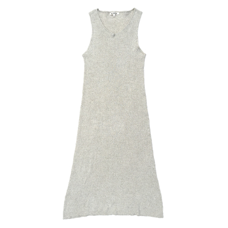 Ali Golden Ribbed Dress in Natural