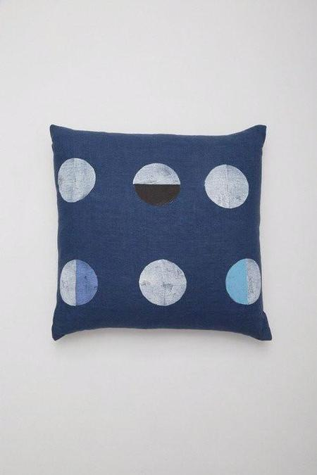 Caroline Z Hurley Indigo Moons Pillow