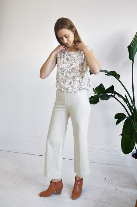 Ali Golden Twill Pant in Natural