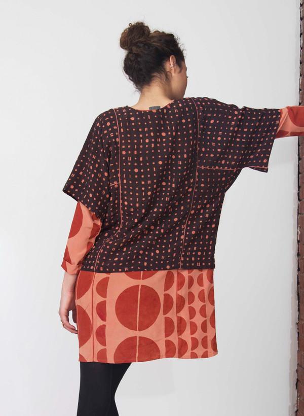 Seek Collective Jynne top | black/pink portals print