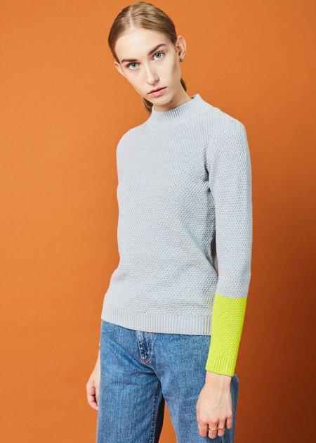 Labo.Art Pico Knit Merino Sweater - Moon/Lemon