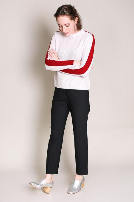 Jenni Kayne Fisherman sweater in nude/red