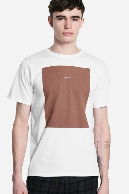 Saturdays Surf NYC Logo Rectangle S/S Tee - White
