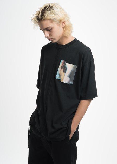 Komakino Black Jersey Cuts T-Shirt with Patch 03