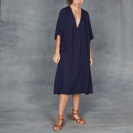 TYSA Long Spirit Dress in Navy