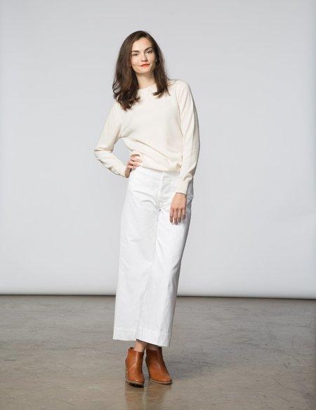 SBJ Austin Crewneck Cashmere Sweater - White