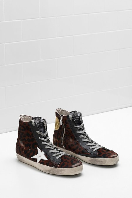 Golden Goose FRANCY SNEAKERS IN LEOPARD