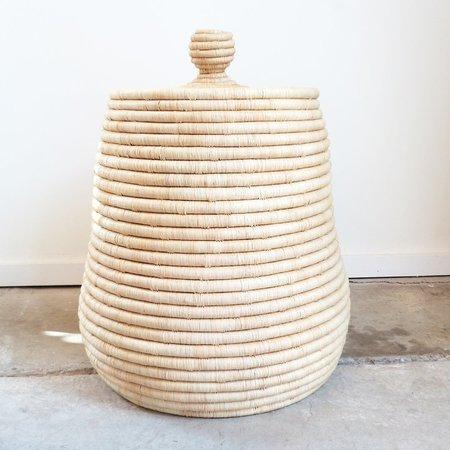 Indego Africa Raffia Lidded Basket in Natural