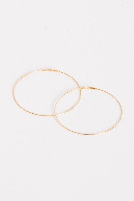 Kathleen Whitaker Medium Hoop Earrings in Gold
