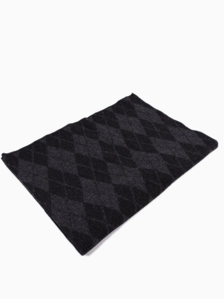 Engineered Garments Wool Blanket Charcoal Argyle Wool Dobby