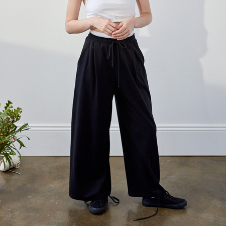 Kowtow Building Block Wide Leg Pant - Black