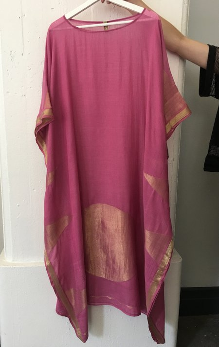 Two Mauve Boatneck Caftan