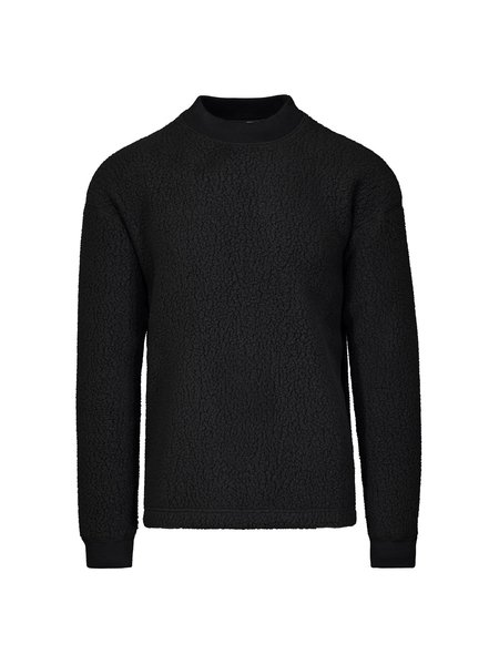 Wings + Horns Knit Shearling Crewneck