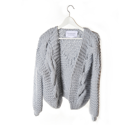 I love Mr Mittens Silver Knit Bomber