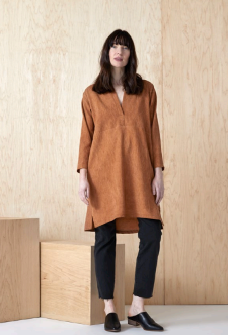 North Of West Open Neck Dress - Copper